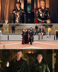 Thor and Loki in Thor, The Avengers, and Thor: The Dark World