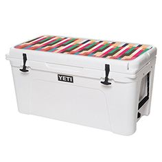 MightySkins Protective Vinyl Skin Decal for YETI Tundra 75 qt Cooler Lid wrap cover sticker skins Crazy Stripes ** Learn more by visiting the image link.(This is an Amazon affiliate link and I receive a commission for the sales)