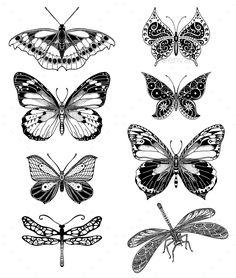 Butterfly Temporary Tattoo - Temporary Tattoos - Tattoo - Temporary Tattoos - Gift Ideas - Wedding I butterfly tattoo Butterfly Temporary Tattoo - Temporary Tattoos - Tattoo - Temporary Tattoos - Gift Ideas - Wedding I Tattoo Sketches, Tattoo Drawings, Body Art Tattoos, Small Tattoos, Sleeve Tattoos, Gun Tattoos, White Tattoos, Tattoos Skull, Tattoo Sleeves