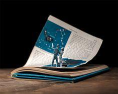 Illustrations en livres découpés | La boite verte