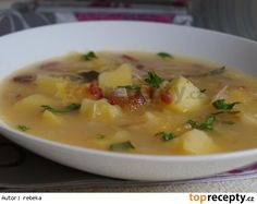 Irena Hufová: Valašská kyselica Czech Recipes, Cheeseburger Chowder, Food And Drink, Favorite Recipes, Treats, Snacks, Cooking, Eastern Europe, Soups