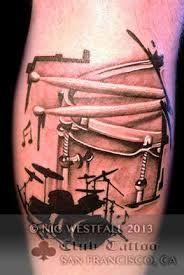 Resultado de imagen para drums tattoo