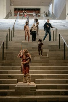 The Evolution Stairs. Moesgaard Museum, Aarhus, Denmark.