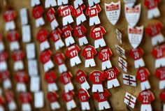 Check out these pin badges of @manutd players past and present that are available down Sir Matt Busby Way on match day's at Old Trafford.