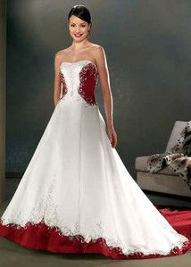wedding dresses with a touch of color drawn to bridal gowns with