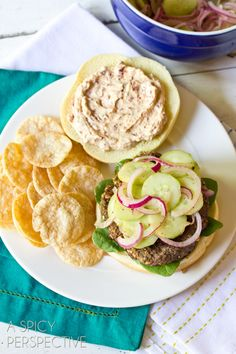 Mediterranean Style Burgers | ASpicyPerspective.com #burgers #hamburgers #summer