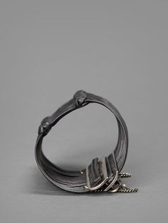 Ann Demeulemeester leather knot and silver bracelet #anndemeulemeester