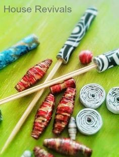 If you love rolling paper beads -- or you just want to give it a try, here is a quick and easy way to make your own bead rolling tool using...