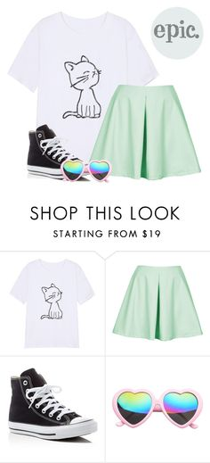 """""""Epic."""" by panchaisnotcool ❤ liked on Polyvore featuring Oh My Love, Converse and SW Global"""