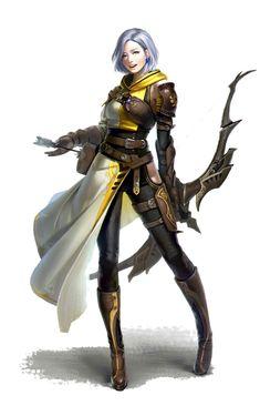 Female Human Archer Warrior - Pathfinder PFRPG DND D&D d20 fantasy