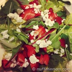 Spring Salad Recipe with Strawberries Goat Cheese and Balsamic Dressing
