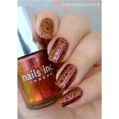 Lovely stamped nail art birdie design by @stampoholicsdiaries on Instagram using Messy Mansion Nail Stamping Plate MM13