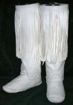Plains Style Boot Moccasins. $150.00, via Etsy.