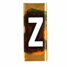 """Vintage Brass Stencil Letter """"Z"""" Reese's Interlocking Stencils, 4"""" tall (c.1950s)"""