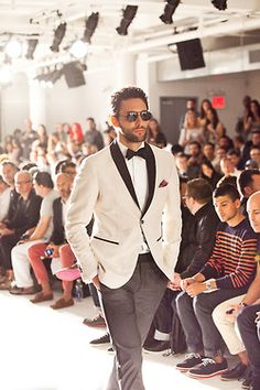Saw this and smiled!! Always staying ahead of the trends...I have been making this white dinner jacket for several clients since October 2012.  *As seen on the runway for Fashion Week 2013