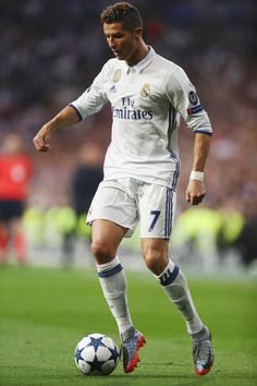 Cristiano Ronaldo of Real Madrid in action during the UEFA Champions League semi final first leg match between Real Madrid CF and Club Atletico de Madrid at Estadio Santiago Bernabeu on May 2017 in Madrid, Spain. Cristiano Ronaldo Quotes, Cristano Ronaldo, Cristiano Ronaldo Juventus, Juventus Fc, Ronaldo Real, Fotos Real Madrid, Ronaldo Pictures, Portugal National Football Team, Cr7 Messi