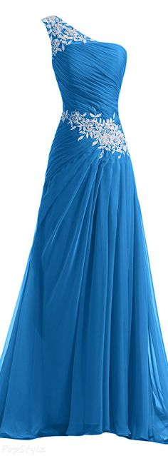 Sunvary Chiffon & Applique Long Evening Gown