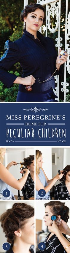 Halloween Costume Makeup and Hair Tutorial for Miss Peregrine's Home for Peculiar Children.