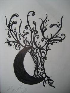 Moon tree tattoo design by ~IsabellaInk on deviantART
