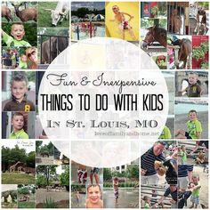 Fun & Inexpensive Things to do with Kids in St. Louis, MO like this ladies perspective & practical info