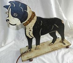 Fine Country and Primitive Antiques serving our nationwide customer base for over 30 years. Located in the beautiful Catskill Mountains of upstate New York. Boston Terrier Love, Boston Terriers, Favorite Christmas Songs, Toy 2, Primitive Antiques, Pull Toy, Vintage Dog, Antique Toys, Old Toys