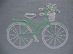 Vintage Bicycle Embroidery Kit – Red Thread Studio #vintagebicycles #bordar