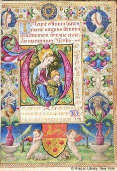 Beautiful Illuminated Manuscripts • Book of Hours Italy, Ferrara, ca. 1461 MS M.227...
