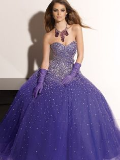 2012 Style Ball-Gown Sweetheart  Paillette Sleeveless Floor-length Tulle  Prom Dress / Evening Dress