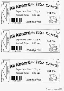 """All Aboard the Polar Express"" - Free printable tickets to turn reading ""The Polar Express"" into a fun holiday activity!"