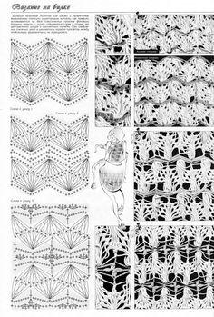 View album on Yandex. Hairpin Crochet Pattern, Hairpin Lace Patterns, Crochet Cape Pattern, Loom Crochet, Crochet Lace Edging, Crochet Diagram, Crochet Shawl, Crochet Stitches, Crochet Patterns