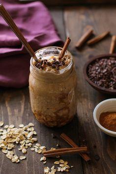 Vanilla Chai Overnight Oats | TheRoastedRoot.net #glutenfree #healthy #breakfast use equal parts milk to oats...