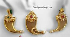 Puligoru latest jewelry designs - Page 4 of 8 - Indian Jewellery Designs Mens Gold Bracelets, Mens Gold Jewelry, Gold Bangles, Gold Pendants For Men, Tiger Nails, Gold Pendent, Gold Earrings Designs, Gucci, Kids Jewelry