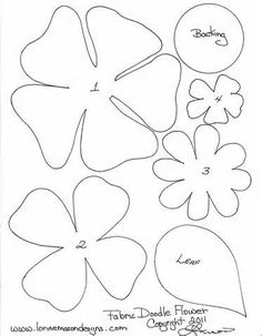 Felt Flower Template - Bing Images