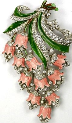 Alfred Philippe Trifari Flower Brooch