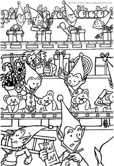 Christmas sprites coloring page
