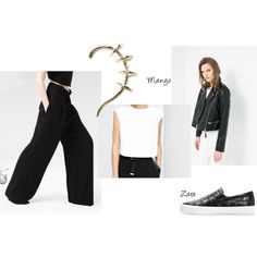 A fashion look from August 2014 featuring cap sleeve tops, real leather jackets and high rise pants. Browse and shop related looks. Cap Sleeve Top, Cap Sleeves, High Rise Pants, Real Leather, Fashion Looks, Leather Jacket, Suits, Polyvore, Jackets