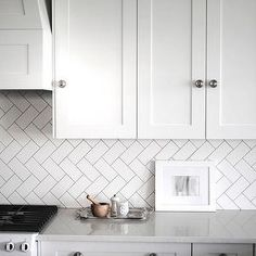 White Kitchen Tiles arabesque white tile with grey grout - google search | kitchen