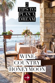 Many #wine regions in the world are tranquil and #romantic, with sprawling #vineyards and charming tasting rooms perfect for an idyllic experience for two. Here are some tips that will help you have a memorable wine country #honeymoon #vacation from start to finish.