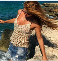 Vanessa Montoro, Gilet Crochet, Crochet Top, Simple, Instagram, Tops, Women, Hairdos, Fashion
