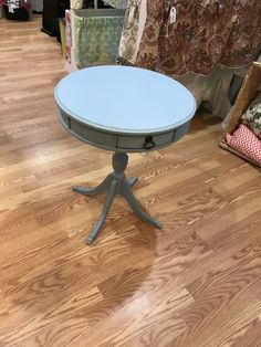 Champness blue drum table