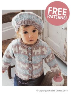 Free Knitting Pattern Toddler Beret : Knit patterns, Baby girls and Jackets on Pinterest