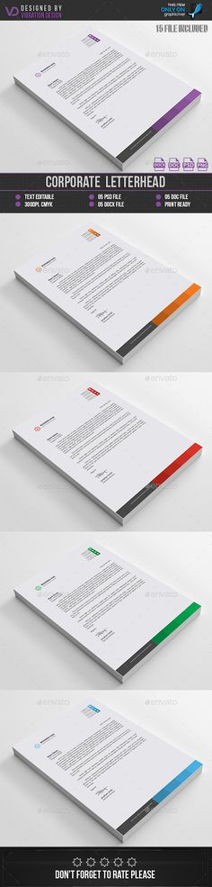 Business Letterhead Letterhead, Stationery printing and - business letterhead