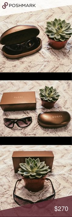 Authentic Gucci Sunglasses Like New authentic sunglasses with case an box. No authenticity card or wipe cloth. Great condition. Gucci Accessories Sunglasses