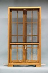 concealed retractable screen detail.  wood window workshop, Utica, NY