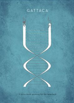 Gattaca -- The film's title is based on the first letters of guanine, adenine, thymine, and cytosine, the four nucleobases of DNA.