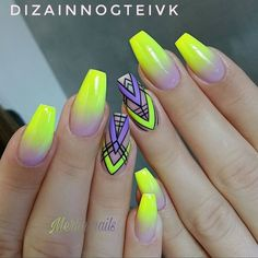 50 Pretty Nail Art Design Easy 2019 You Can Try As A Beginner 50 Pretty Nail Design Easy 2019 – Fashion & Glamour Trends 2019 – Katty Glamour Funky Nail Designs, Pretty Nail Designs, Simple Nail Art Designs, Pretty Nail Art, Easy Nail Art, Funky Nails, Neon Nails, My Nails, Yellow Nails