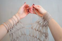 DIY your a scarf in 30 minutes---arm knitting
