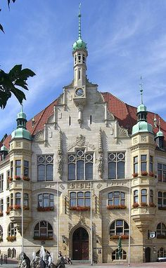 Rathaus (City Hall) in Helmstedt, Germany - Brandon, my son, was born here!