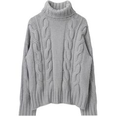 Turtleneck Extended Sleeve Chunky Sweater (€18) ❤ liked on Polyvore featuring tops, sweaters, clothes - tops, clothing - ls tops, short-sleeve turtleneck sweaters, loose sweaters, holiday turtleneck, chunky turtleneck and patterned sweater