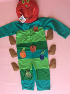 The Hungry Caterpillar Fancy Dress Costume Age 3/4 years BOOK DAY Outfit